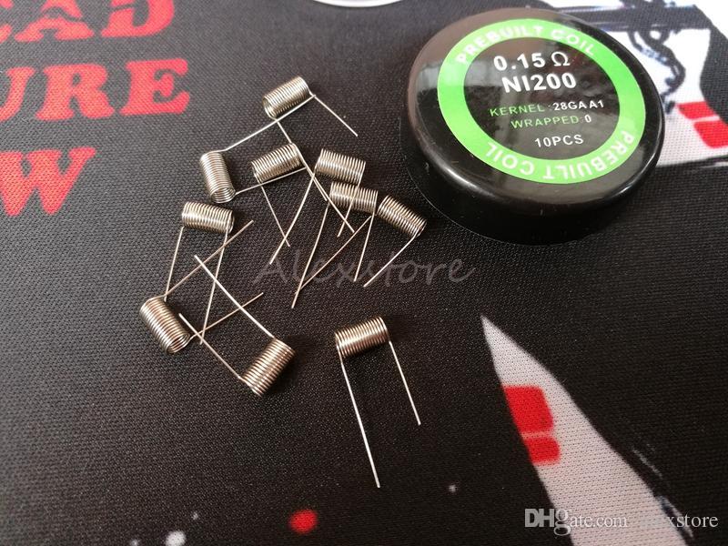 NI200 Wire resistance Ni 200 nickel prebuilt coils premade pre-built coil AWG 26g 28g Gauge Ni-200 for Temp Control TC Mod /box