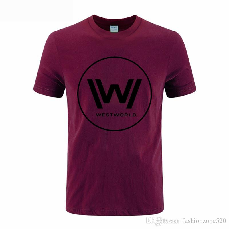 2020 Novo Estilo de Verão TV Westworld T Camisas Dos Homens de Manga Curta O Pescoço de Algodão Ocidente Do Mundo Em Torno Do Pescoço T shirt Homens Moda T-shirt