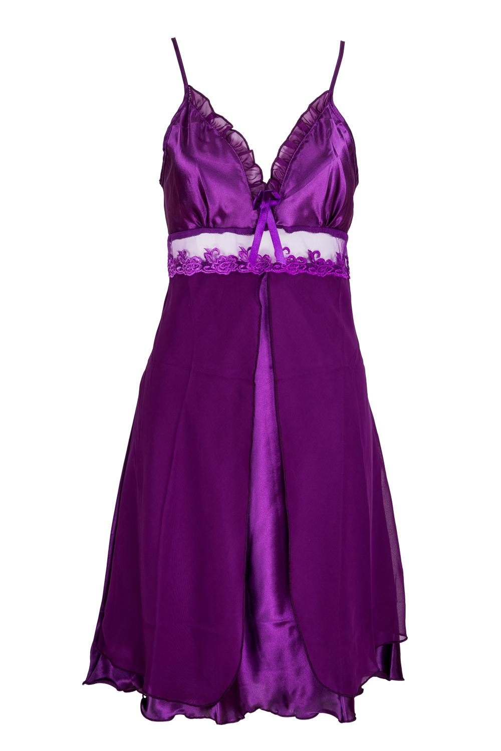 fe39cdb649e8 2019 Wholesale 2017 NEW Women S Lace Lingerie Nightgown Babydoll Strap Sleepwear  Purple From Oott
