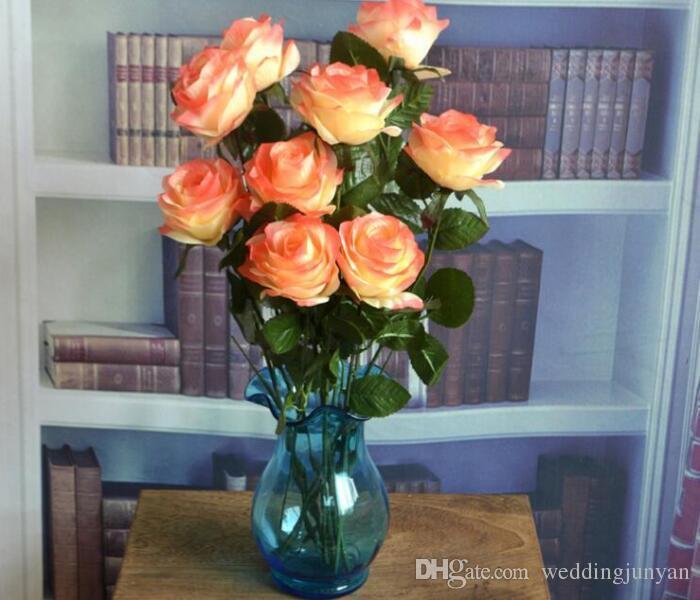 Grosshandel Neue Stile Kunstliche Rose Silk Craft Blumen Real Touch