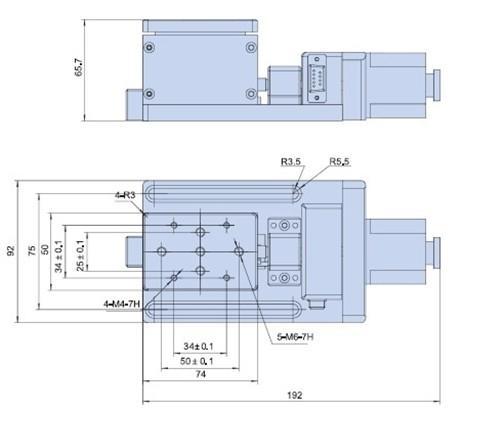 guides de levage électrique motorisé Plate-forme Lab Jack Ascenseur Optique coulissante Ascenseur 10mm Voyage PT-GD404 Cross-ball assurent des mouvements lisses