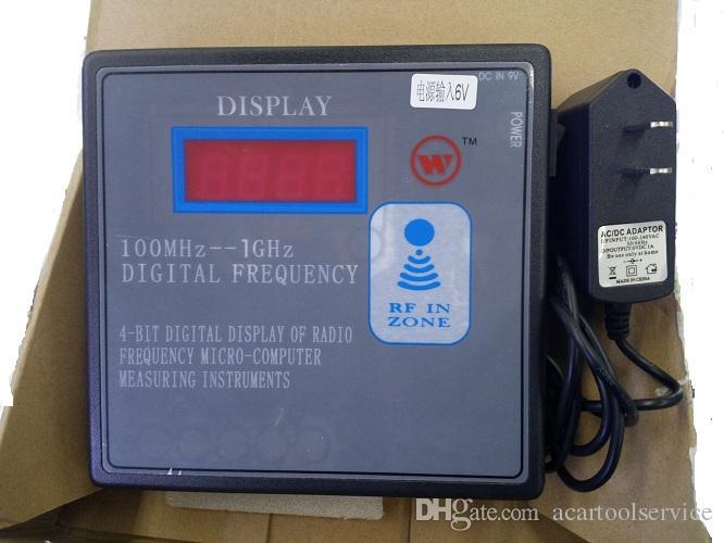 100MHZ-1GHZ Contador de frecuencia remoto Medidor inalámbrico RF Transmisor remoto Probador de frecuencia Garaje Tecla remota Medidor de frecuencia