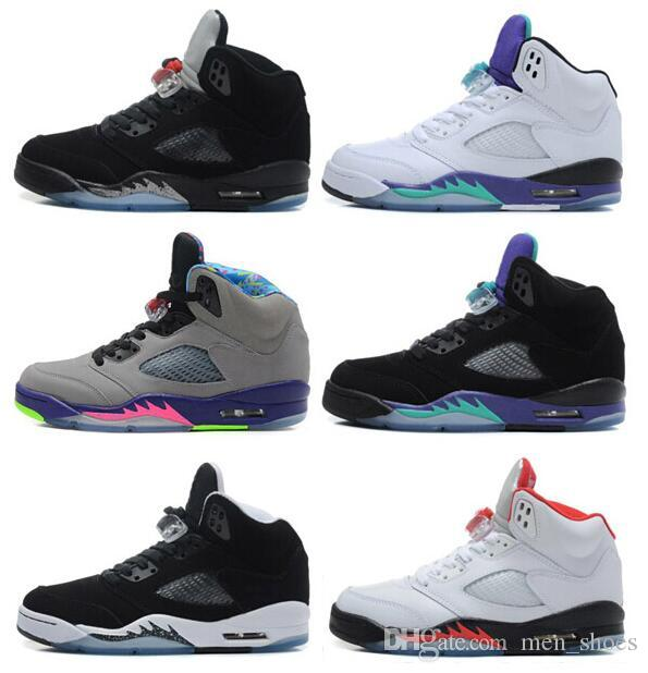 High quality retro 5 oreo black metallic raging bull men high quality retro 5 oreo black metallic raging bull men basketball shoes 5s black grape white grape metallic silver sneakers with shoes box shoes mens sciox Images