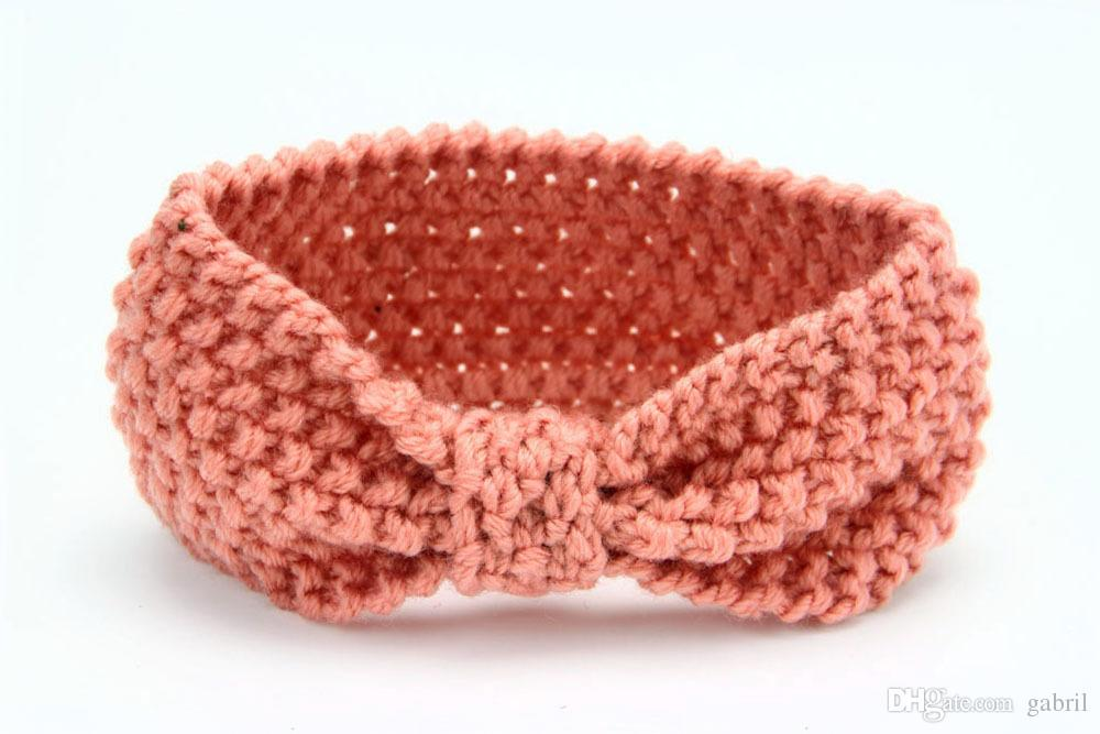 Crochet Knotted Headband Earwarmer Knot Hair Band Turban Knitted Winter Warm Headband Baby Girl Hair Accessory