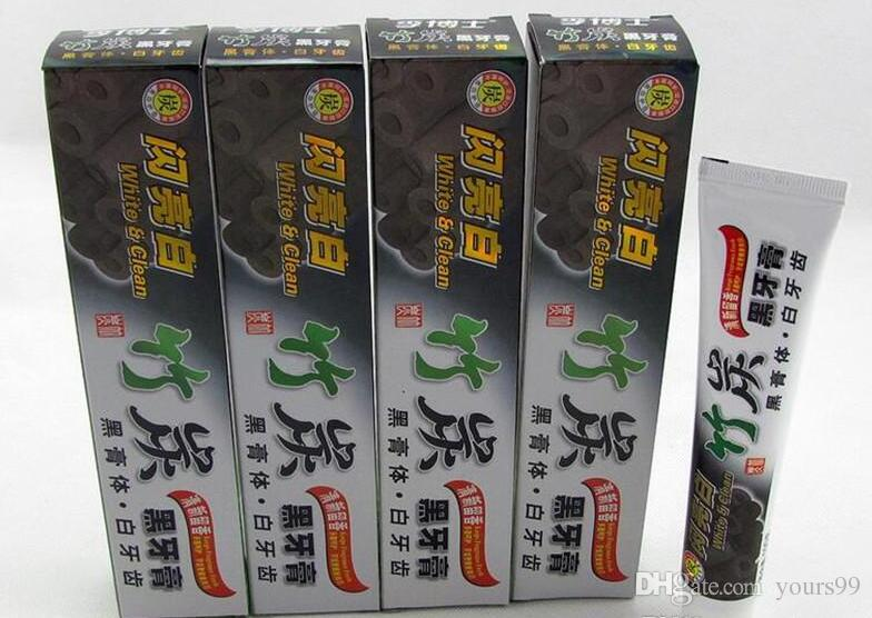 Free ship 100g Charcoal Toothpaste Whitening Black Tooth Paste Bamboo Charcoal Toothpaste Oral Hygiene Product High Quality