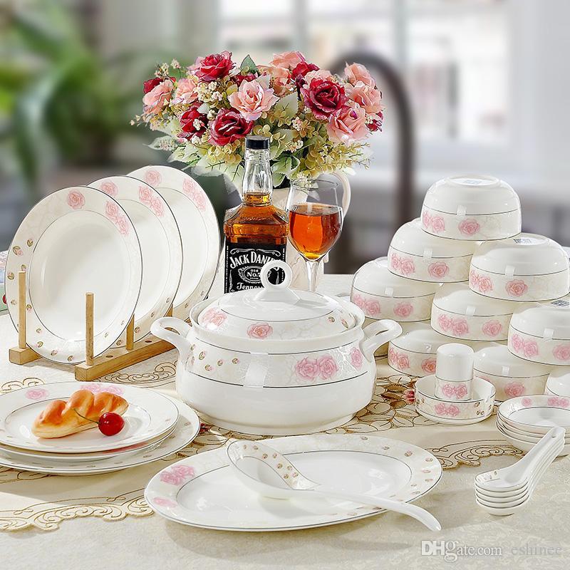 fine china dinnerware sets wcl 07fine bone china tableware set dinnerware sets dinnerware sets clearance from eshinee dhgate - Dishware Sets