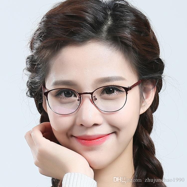 2018 New Retro Large Round Metal Glass Frame Steel Myopic Glasses ...