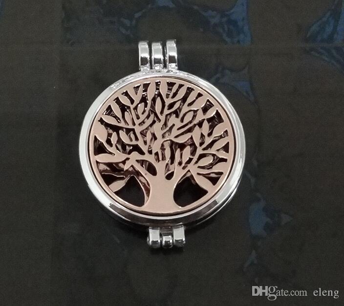 빛나는 생명의 나무 Censer Aromatherapy Locket 에센셜 오일 디퓨저 플로팅 중공업 로켓 펜던트 목걸이 향수 로트 목걸이 120