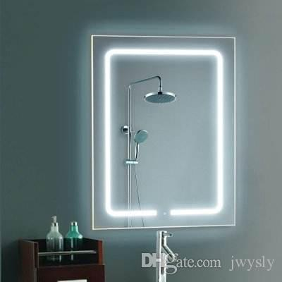 Frameless Illuminated Mirrors Smart Wall Mounted Led Bathroom Mirror Defogging Bluetooth Lights Lamps W36 X H28 Online