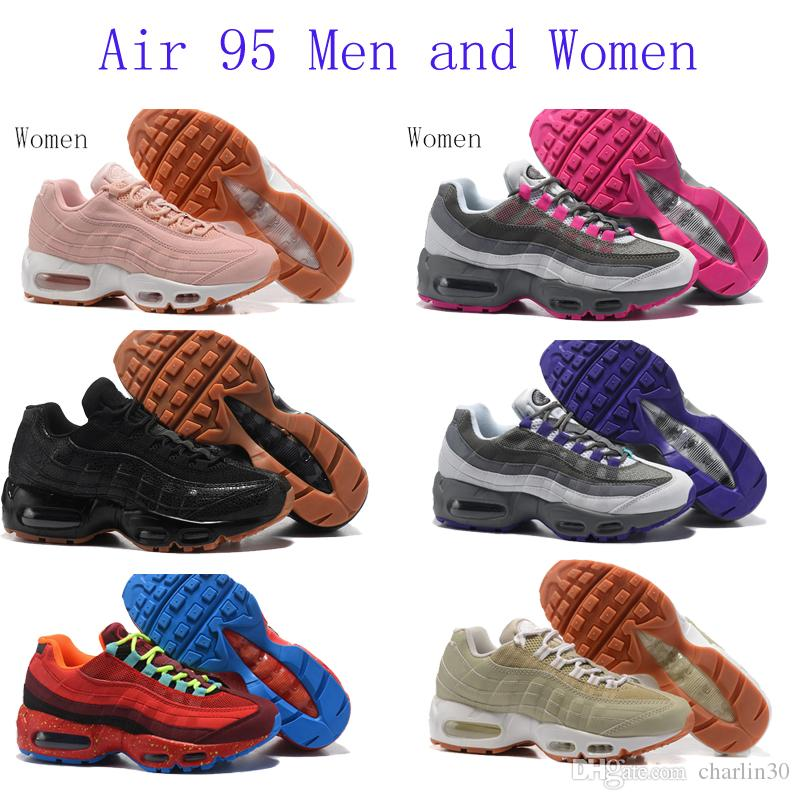 2017 New Mens sports 95 Running Shoes,Comfort Fashion mens athletic Walking training sporting shoes sneakers Classic Air Cush size 36-46