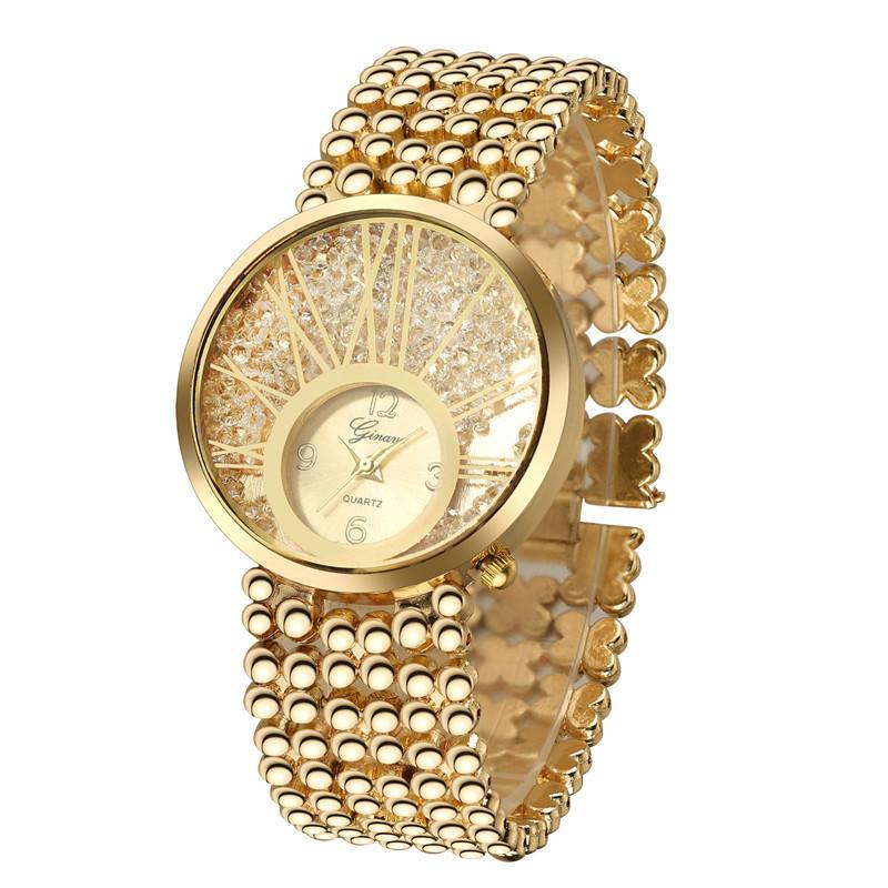 Nouveau Ladies Fashion Watches Bracelet en or 18 carats Set Watch est très élégant et beau spectacle charme de femme