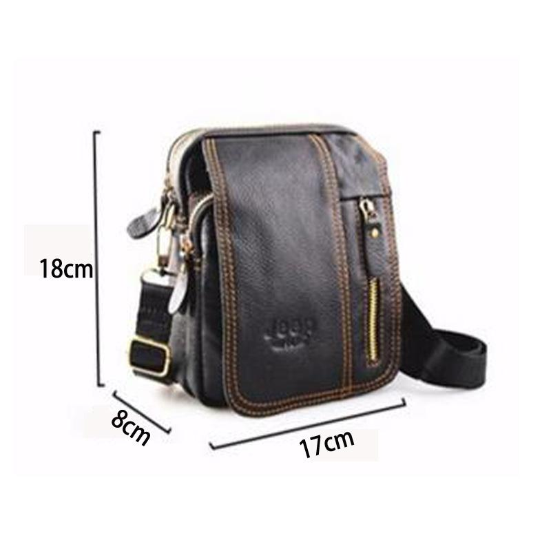 3383bf60e3a Wholesale- Men Genuine Leather Bag Handbags Mens Utility Belt Bag ...
