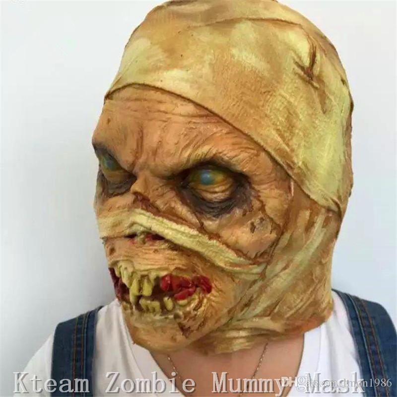 Top Grade Fashion terror zombie mask latex devil mummy face mask Halloween Party Cosplay Mask /Christmas/Parties/bar/gifts ghost full Head