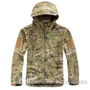 Tactical gear clothing outerwear Coats mens winter jackets with fleece lined thcik waterproof Camouflage TAD soft shell shark skin
