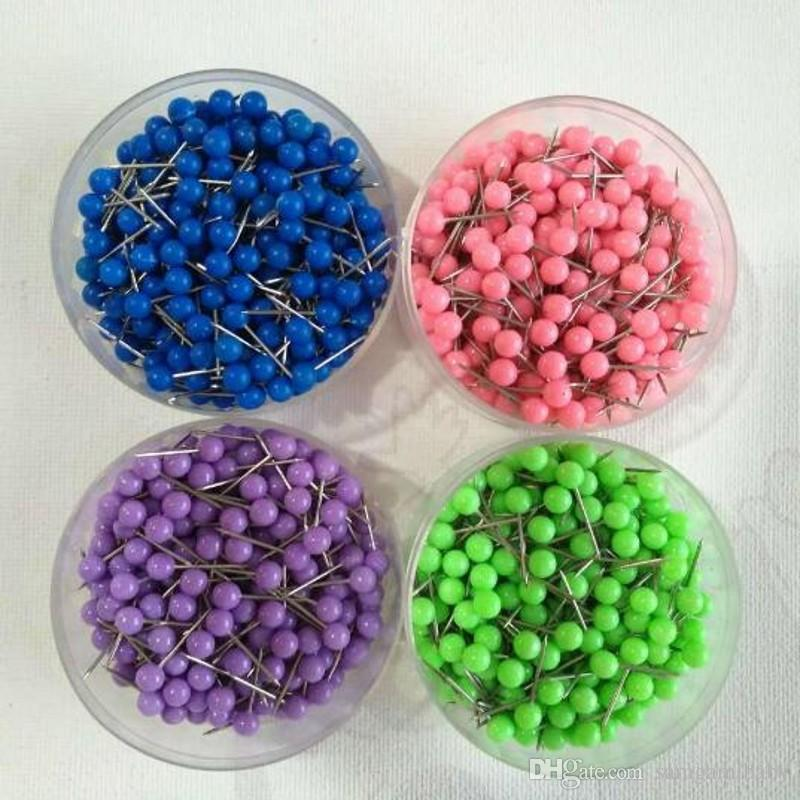 1/ 8 Inch Small Map Push Pins Map Tacks, Plastic Head with Steel Point, for option