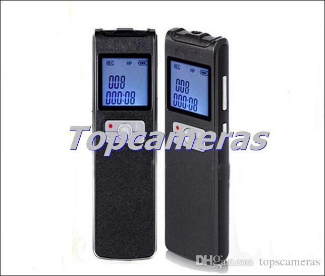 شحن مجاني DVR-308 8GB الصوت تسجيل صوتي رقمي، مفتاح واحد تسجيل وقت playingVOS تسجيل 3 طرق + FM طويل