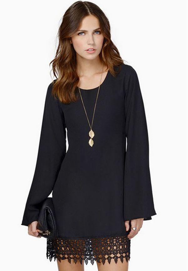 Kleider schwarz langarm