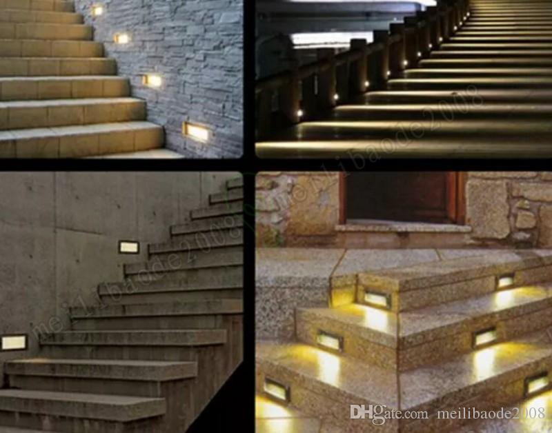 Nuevo impermeable 3w LED Lámparas de luz subterráneas empotradas de la lámpara de pie enterrada al aire libre / interior del paisaje de la escalera de la escalera de la escalera de la paredera de la pared AC85-265VMyy