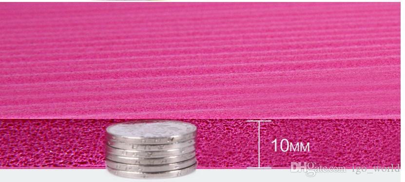 고품질 183 * 61 * 패드 필라테스 운동은 타이 피크닉 아이들과 함께 크롤링 1.0cm NBR 요가 매트 10mm 천연 고무 고밀도 미끄럼 방지