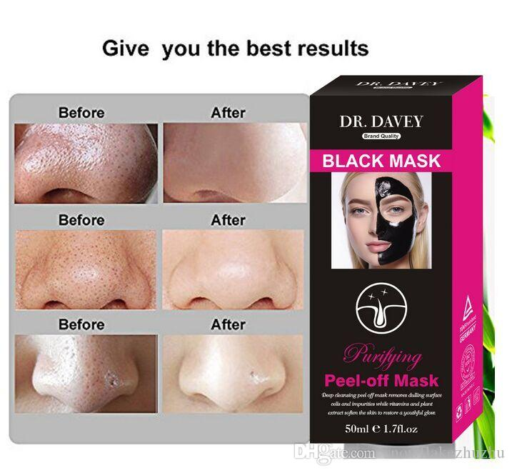 50ml Dr. DAVEY active bamboo charcoal black peel head mask Purify detoxification anti-wrinkle lift firming activating moist deep clean