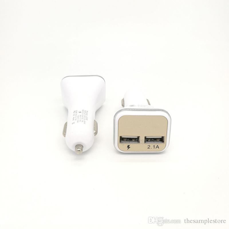 2016 Yeni Çift USB Adaptif QC2.0 Smartphone Için LED Hızlı Şarj Hızlı Araç Şarj andriod cep telefonu