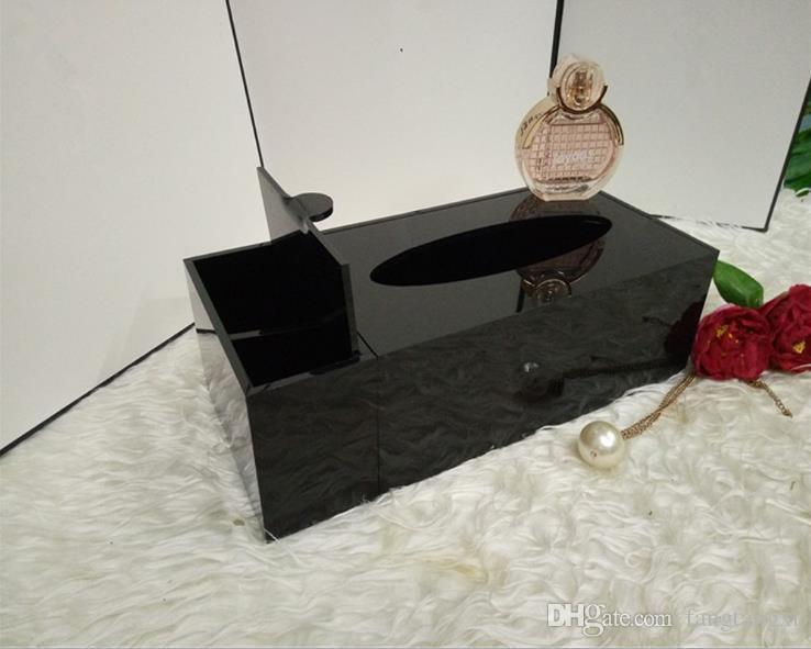 ¡Venta caliente! Caja clásica de tejidos multifuncionales de acrílico de alta calidad / accesorios cosméticos de almacenamiento con embalaje de regalo