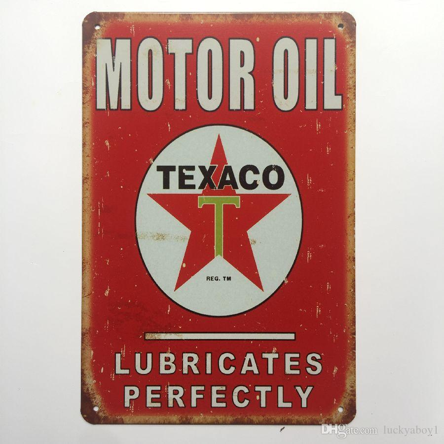 Motor Oil Lubricates Perfectly Retro Vintage Metal Tin sign poster for Man Cave Garage shabby chic wall sticker Cafe Bar home decor