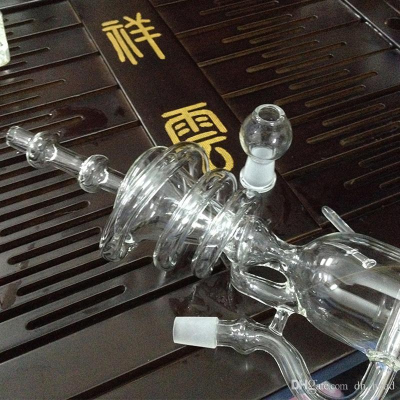 Лучшие стеклянные водопроводные трубы Торнадо ablets фильтр ресайклер Бонг буровые установки камеры барботер DIY курение кальян бонги с сухой травы чаша
