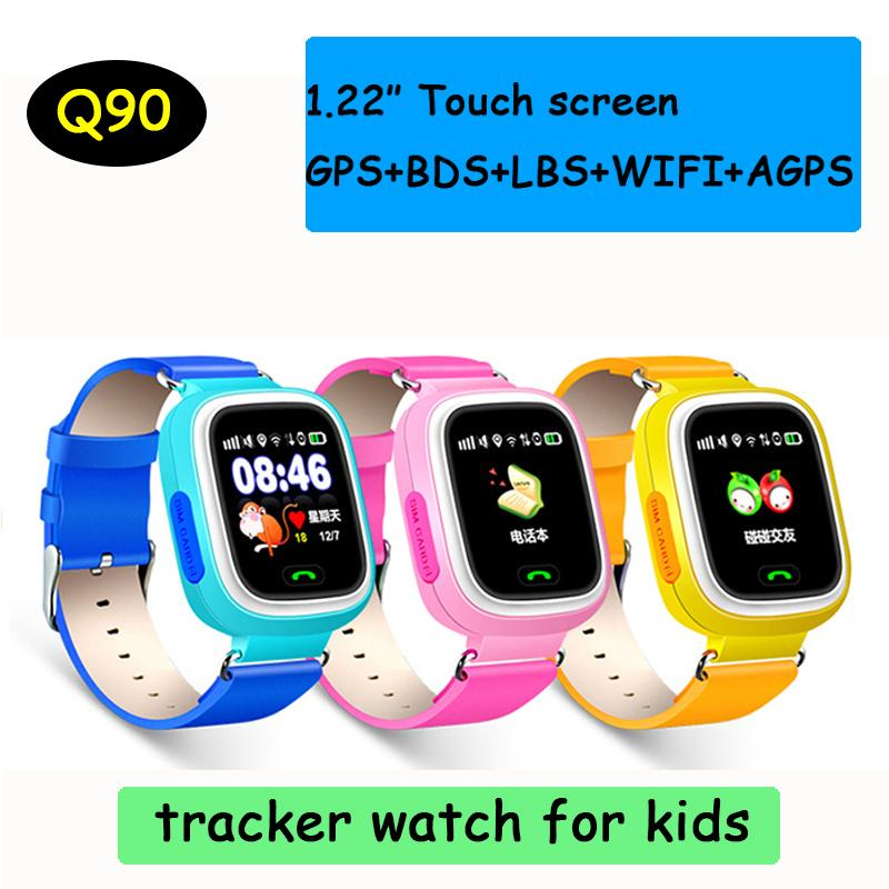 91f8e1450e5 Q90 Bluetooth GPS Tracking Smartwatch Touch Screen With WiFi LBS For IPhone  IOS Android SOS Call Anti Lost SmartPhone DHL OTH479 Smart Watches For Men  ...