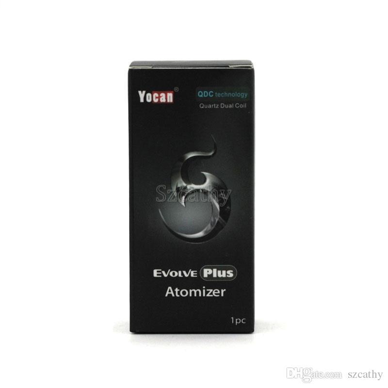 Autêntico Yocan Evolve Plus Atomizadores Vaporizador de cera E Atomizador de Cigarro Ajuste Bateria Ego-T Vision Baterias 100% Original