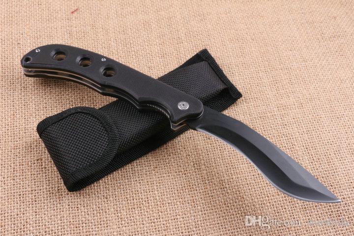 COLD STEEL Dog Leg Dogleg SPARTAN RAJAH II Titanium Pocket Folding Knife 3Cr13Mov 57HRC G10 Tactical Hunting Survival Military Utility Knife