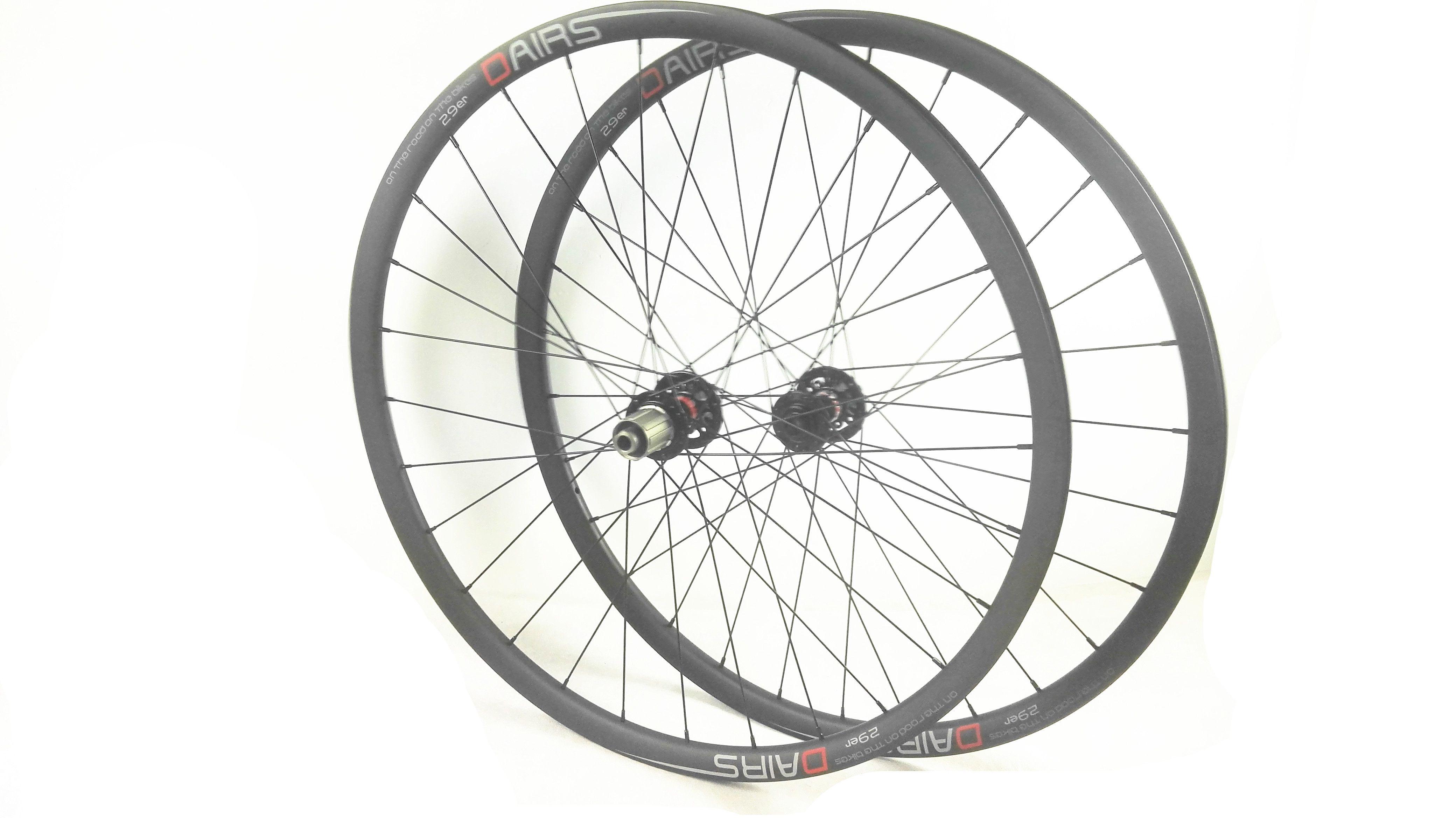 carbon mtb wheels 29er boost powerway M82 hubs 32 32 hole 148X12 110X15 mtb bike tubeless wheels