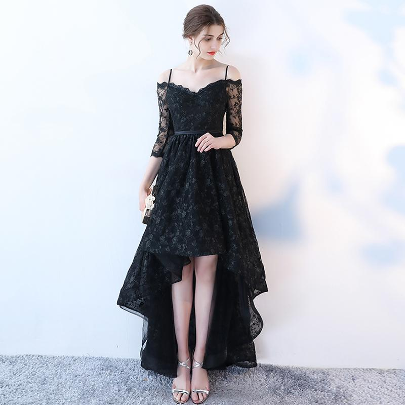Lace High Low Prom Dress