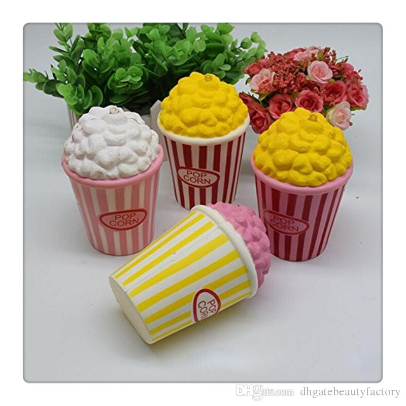 Commercio all'ingrosso Popcorn Squishy Jumbo Popcorn Squishies Lento Aumento Profumato Spremere Natale Sollievo dallo Stress Giocattolo Portachiavi DHL libero