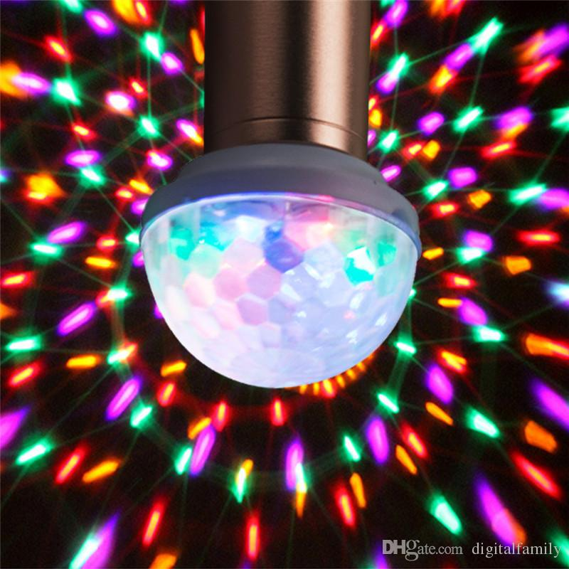 LED USB Mini Magic disco ball light car DJ Home Party USB socket LED Crystal Magic effect Rotating Ball Lamp DC 5V