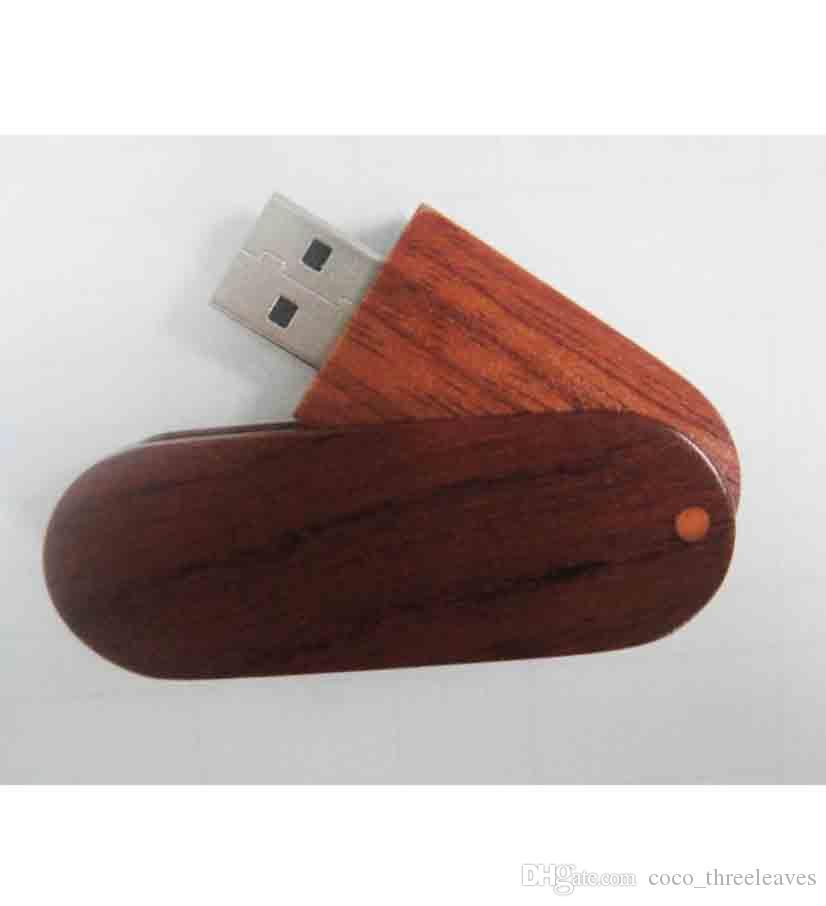 Promosyon hediye elektronik özelleştirilmiş logo başparmak sürücü gerçek kapasite usb2.0 Ahşap Döner USB Flash Sürücü 512 mb 1 gb 2 gb 4 gb 8 gb 16 gb 32 gb