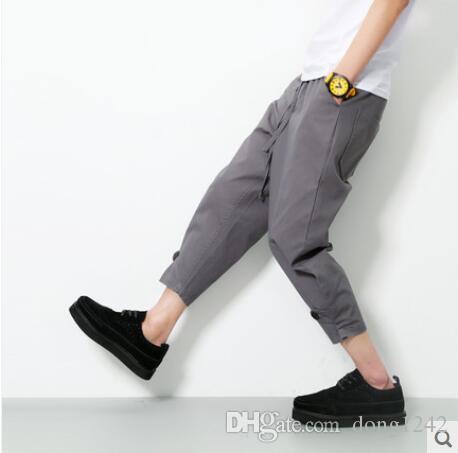 Haroun Hosen Männer im Sommer neun Minuten Hosen der ursprünglichen SuFeng Hose Hosen im Frühjahr