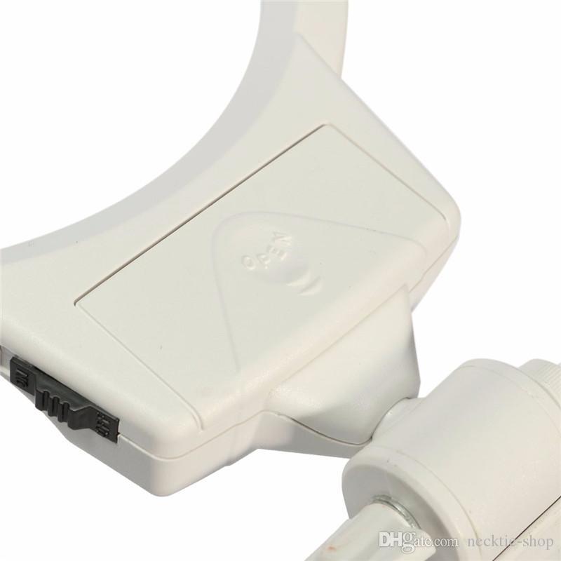 Lente d'ingrandimento regolabile regolabile il desktop Ingrandimento 2-6X con strumento di riparazione di orologi a LED