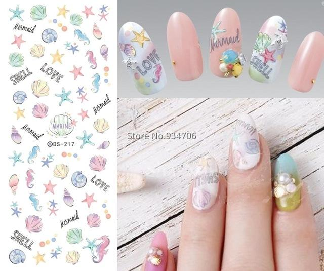 Wholesale Ds217 Diy Nail Design Water Transfer Nails Art Sticker ...