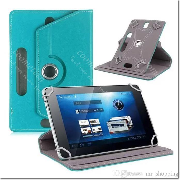 7 8 9 10 inç evrensel tablet kılıf 360 Derece Döndür pu Deri Kılıf ipad Kapak Samsung Galaxy Tab 3 4 iPad Hava Tablet PC