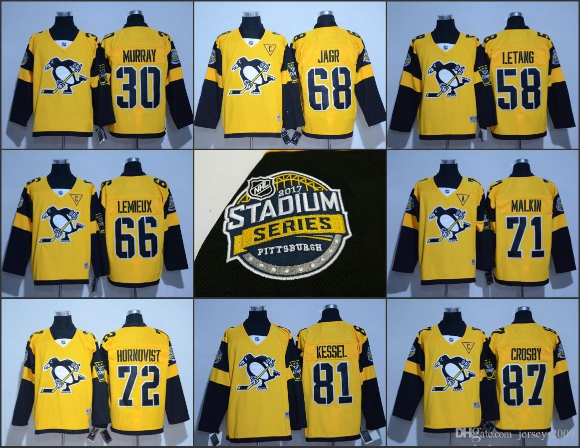8ea1643ed Cheap 2017 Stanley Cup Champions Men Pittsburgh Penguins 87 Sidney Crosby  81 Phil Kessel Mario Lemieux Letang Jaromir Jagr Evgeni Malkin Jerseys
