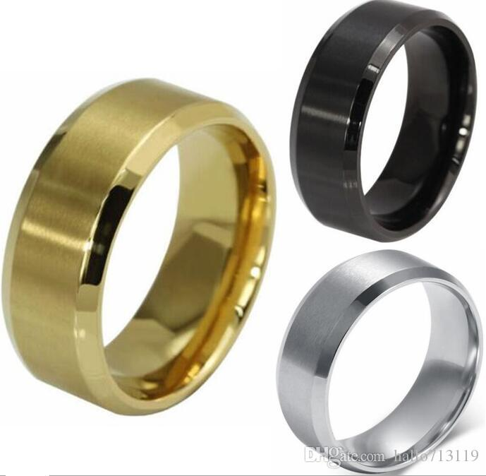Top Quality Comfort Fit 8mm Band Stainless Steel Wedding Rings Mix