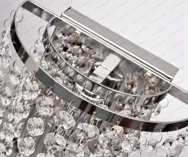 2017 Ücretsiz kargo Ev Kristal Duvar Aplik Lamba Kolye Işık Fikstürü Aydınlatma Avize LED Yatak LLFA
