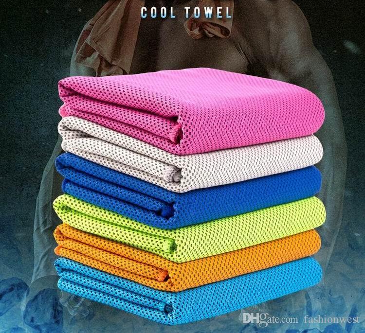 Performance de refroidissement serviette Sports de plein air froid glace Echarpe Tapis Cravate Wristband Bandeau été Plage Fournitures de nécessité cadeau Coolin