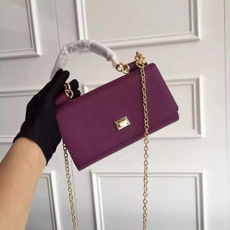 Classic-Serie Lady Abendtaschen Echtes Leder Solide Einfache Mode Hand Handabdruck Mini-Tasche Rot Lila Grün Grau Schwarz Candy Farbe