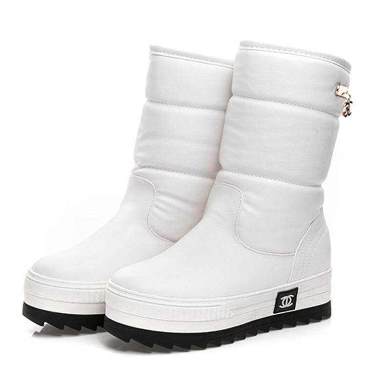 Wholesale 2017 New Women Waterproof Snow Boots Snowflake Cotton Super Warm Shoes  Women S Winter Platform Mid Calf Boots  0784 Desert Boots Wellies From ... 78463dfbbb