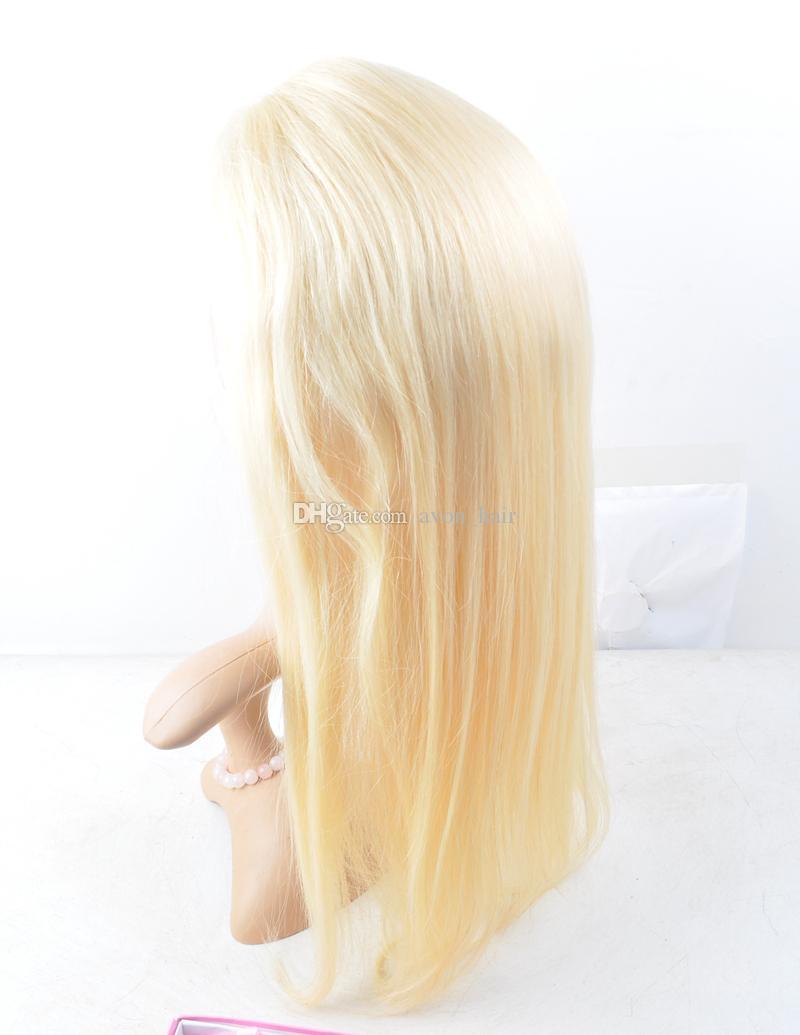 Parrucca di colore puro parrucca di colore puro # 613 Parrucca di capelli umani con parrucca di capelli # e parrucca anteriore del merletto parrucca colorata piena del merletto
