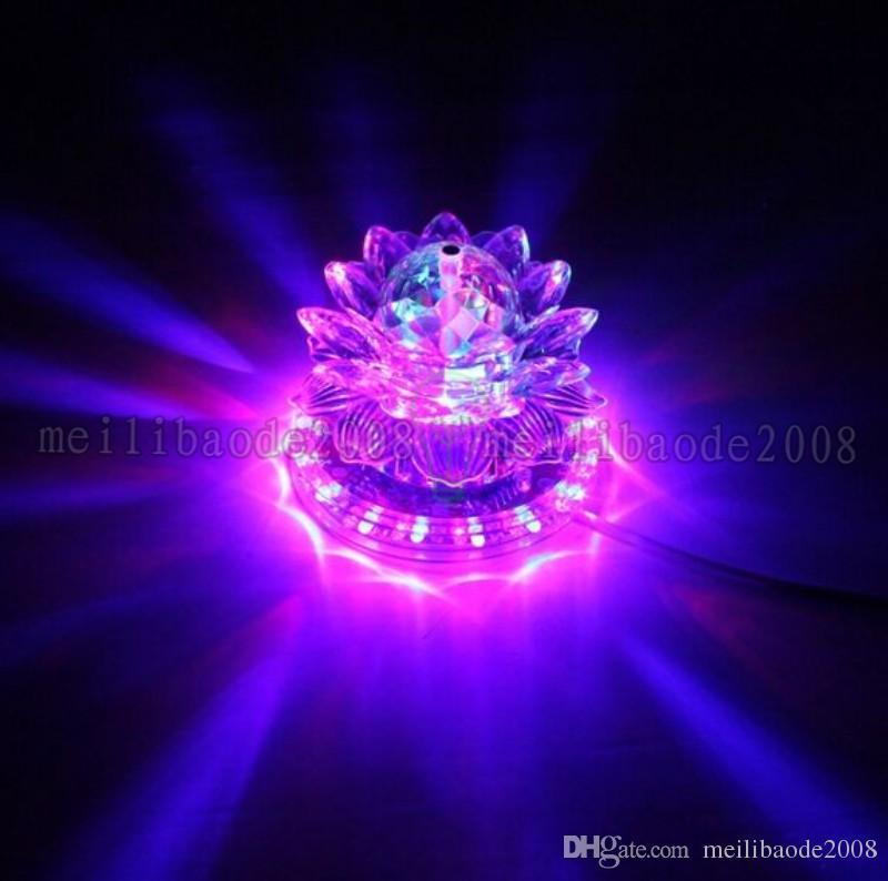 2017 새로운 로터스 효과 빛 자동 회전 11W LED RGB 크리스탈 무대 빛 홈 장식에 대 한 구슬 램프 DJ 디스코 바 최고의 선물 MYY