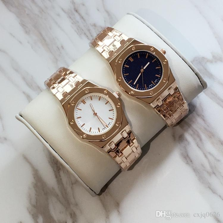 2017 Fashion lady watches women watch brand rose gold/silver Stainless Steel blue Bracelet Wristwatches Brand female clock