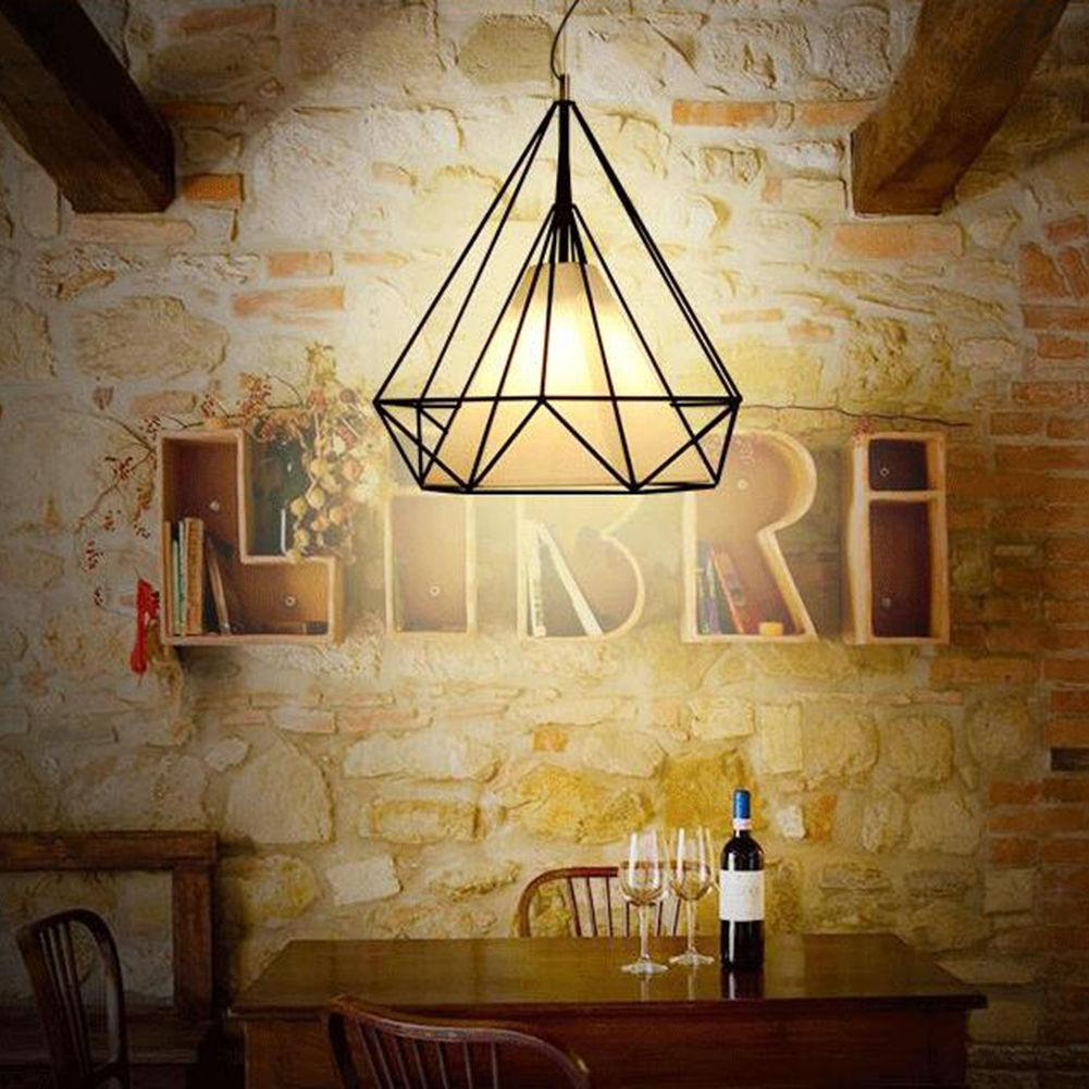 Modern industrial pendant light wrought iron black iron birdcage modern industrial pendant light wrought iron black iron birdcage lighting scandinavian loft pyramid lamp metal cage ceiling lamp pendant lighting modern mozeypictures Gallery